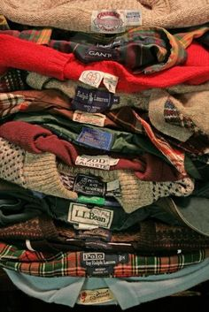 shirts and sweaters.