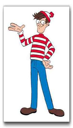 Letter W = Waldo. Five Waldos were hiding around the room and the kids found them!!