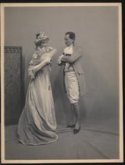 Mrs. James Burden (Florence Adele Sloane), Mr. Whitney Warren at Hyde Ball (3 Jan 1905). She was Consuelo Vanderbilt's first cousin.