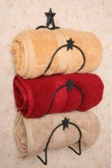 baths, country bathrooms, towel holder, countri decor, primitive country, star, wrought iron, towels, primitive homes