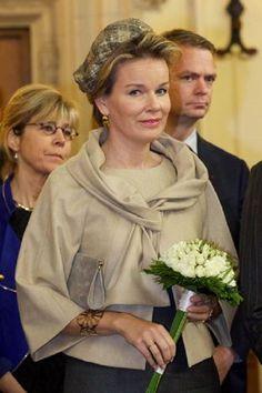Queen Mathilde of Belgium during the visit to Bruges, Belgium, 25.10.13.