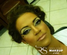 Polka dot makeup