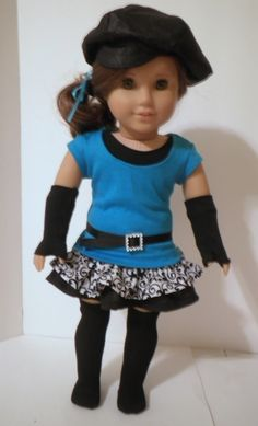 18 inch doll outfit made with Liberty Jane clothing patterns