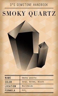 D*S Gemstone Handbook: Smoky Quartz ~ Design*Sponge