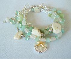 Boho Bracelet, Sundance Style, Bohemian Jewelry, Artisan Jewelry, Ocean Blue, Beach