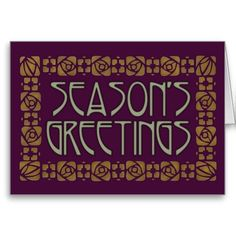 Art Nouveau Season's Greetings Card
