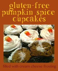 Gluten-Free Pumpkin Spice Cupcakes with Cream Cheese Frosting filling ...