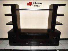 Centro de Entretenimiento Minimalista Mod. SENEGAL. Incluye: 1 mueble central para pantalla y 2 torres laterales. Medidas: Largo: 2m, Alto:1.80m, Fondo: 40cm --DISPONIBLE EN CUALQUIER COLOR. Precio: $5,990