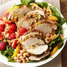 Sew Crafty Angel: Grilled Turkey and Strawberry Salad