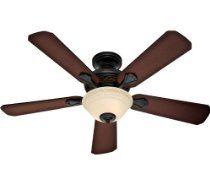 Hunter HR23949 48-in Midas Black Ceiling Fan with Light