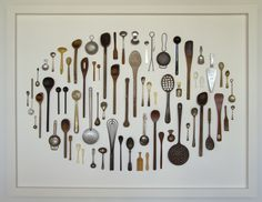 Victoria McIntosh: 'Spoon Collection', Found spoons and pins. Cone Ten and descending…   NZ eye view of contemporary ceramics