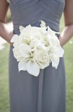 all white callas and roses