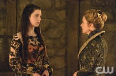 """Reign -- """"Long Live the King"""" -- Image Number: RE121b_0311.jpg -- Pictured (L-R): Adelaide Kane as Mary, Queen of Scots and Megan Follows as Queen Catherine -- Photo: Ben Mark Holzberg/The CW -- © 2014 The CW Network, LLC. All rights reserved."""