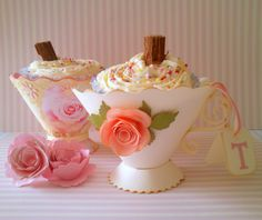 Birthday cupcakes in our gorgeous teacup favours, simply beautiful!