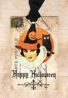 vintage Halloween tag