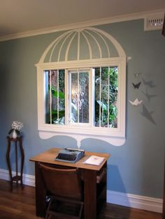 birdcage window. especially cute if it was overlooking a garden or something of that sort.