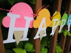 ice cream party banner