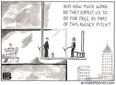 """Agency Pitch"" cartoon"