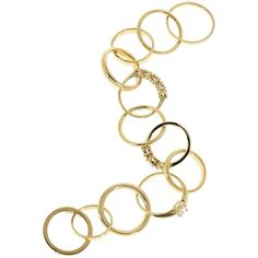Maison Martin Margiela Brass linked rings bracele