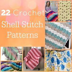 22 Crochet Shell Stitch Patterns