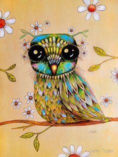 'The Peridot Owl' by Karin Taylor