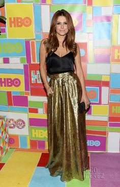 Maria Menounos Goes For The Gold And Looks Gorgeous At HBO's Emmys After Party