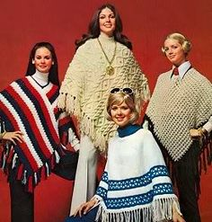 Ponchos were stylish in the '70s