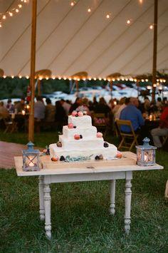 fruit wedding cake | Jen Fariello #wedding
