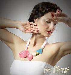 Neon necklace made by Eva Sušanská