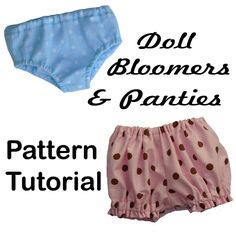 PANTIES & BLOOMERS 18 inch American Girl Doll Clothes  pattern  PDF Easy Sew Accessories. $4.50, via Etsy.
