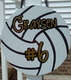 Volleyball Sign by atmiles on Etsy, $40.00