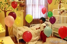 Wake-up to balloons on your birthday