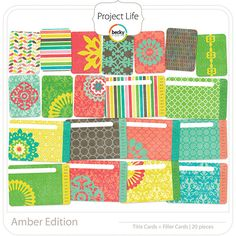 Project Life - Amber - Filler/Title Cards; digital
