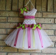 Dress bow holder