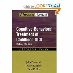 Cognitive-Behavioral Treatment of Childhood OCD. Exposure and Response Prevention Therapy. CBT.  - repinned by @PediaStaff – Please Visit ht.ly/63sNtfor all our pediatric therapy pins