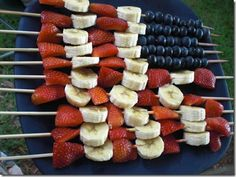 For a Fourth of July Party (I think this would have to be frozen to keep the bananas good)
