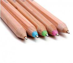 $5 ballpoint pens that look like wooden pencils.  cute!