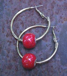 Memorial Bead Hoop Earrings, Chelsea Style, Sterling Silver