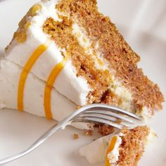 A very tasty recipe for an easy carrot cake with cream cheese frosting and a yummy orange drizzle.. Carrot Cake With Drizzle Recipe from Grandmothers Kitchen.
