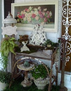 Sweet porch pretties (from Penny's Vintage Home)
