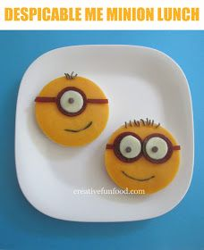 Easy Despicable Me Minion Lunch on creativefunfood.com