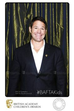 Star of BBC TV's Deadly 60 Steve Backshall gives us a grin in the BAFTA TwitterBox at the British Academy Children's Awards in 2013