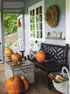 Cozy front porch.