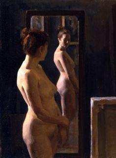 Angel Ramiro Sanchez - Nude at the mirror (2004)