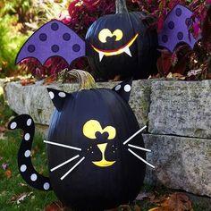 Cat & Bat pumpkins