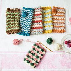 Crochet fingerless gloves.