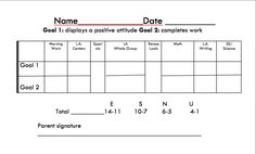 For students with behavior plans