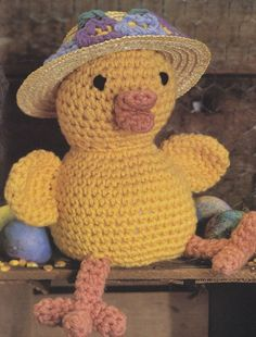 Easter Chick Crochet Pattern, Adorable Spring Chicken