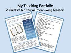 Teaching Portfolio Checklist for New Teachers or Teacher Interview - Michele Luck's Social Studies - TeachersPayTeachers.com