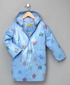 toddler boy raincoats light blue
